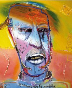 Mattia Moreni, Autoritratto n.2, 1986, olio su tela, Galleria d'Arte Contemporanea Vero Stoppioni, Santa Sofia (FC)