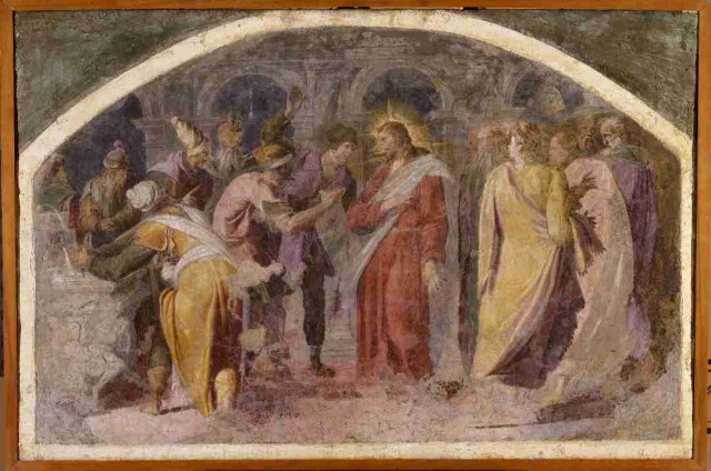 1. Pellegrino Tibaldi, Gesù Cristo risponde alle domande dei farisei, circa 1553, cm 71x106.5, Bologna, Pinacoteca Nazionale