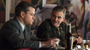 George Clooney in una scana di Monument Men