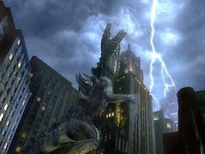 Godzilla in un momento di carineria e affetto