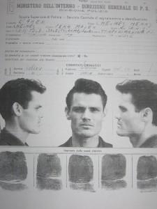 Chet Baker schedato dalla polizia italiana