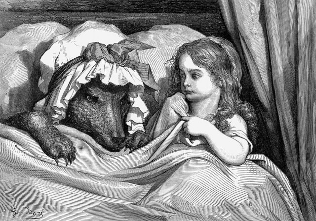 GustaveDore_She_was_astonished_to_see_how_her_grandmother_looked
