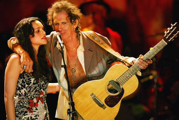Keith Richards con Norah Jones