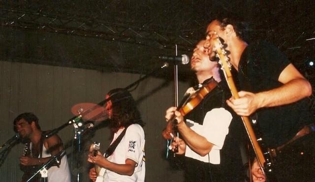 Michelle Shocked e Michele Gazich con Fiachna ò Braonàin e Peter O' Toole degli Hothouse Flowers – 1995