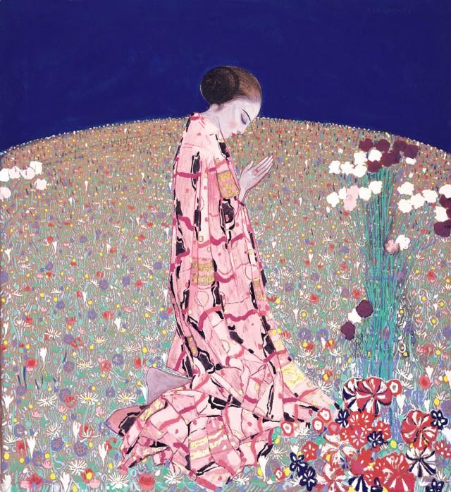 La preghiera, Felice Casorati, 1914, tempera su fustagno, cm 130 x 120.