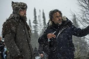 Leonardo Di Caprio e Alejandro Gonzáles Iñárritu sul set