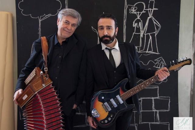 Massimiliano Larocca con Maestro Riccardo Tesi, produttore di Un mistero di sogni avverati