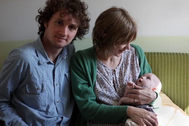 Beth Orton con il marito, il cantautore Sam Amidon, e il figlio Arthur
