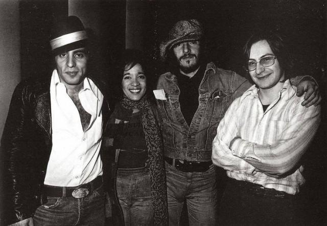 Ronnie Spector con Little Steven, Bruce Springsteen e Southside Johnny – 1976