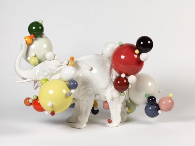 Andrea Salvatori, senza titolo (Overweight),  2015,  ceramica