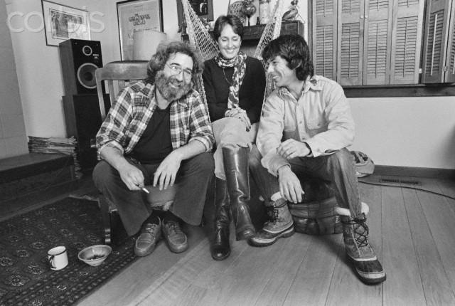 Joan Baez con i Grateful Dead Jerry Garcia e Mickey Hart – primi anni Ottanta