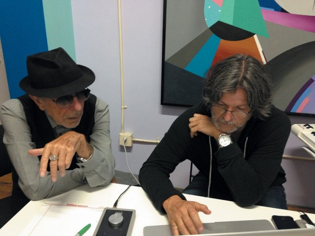 Leonard Cohen con Patrick Leonard