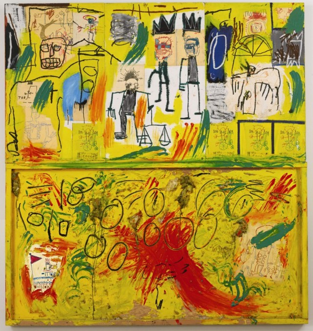 Jean-Michel Basquiat, Senza titolo (Yellow Tar and Feathers), 1982